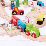 Dřevěné hračky Bigjigs Rail Dřevěné autodráhy železniční přejezd s brankami