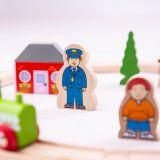 Dřevěné hračky Bigjigs Rail Moje první vláčkodráha 20 dílů