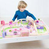 Dřevěné hračky Bigjigs Rail Vláčkodráha Magical a stůl