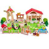 Dřevěné hračky Bigjigs Toys - Velká dřevěná farma - sleva