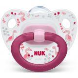 NUK Dudlík silikonový HAPPY DAYS V3 (18m+) růžová
