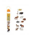 Dřevěné hračky Safari Ltd - Tuba - Zvířata Severní Ameriky