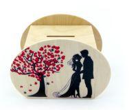Hess Dřevěná pokladnička svatba