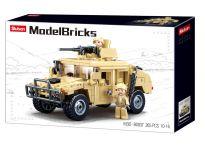 Sluban Army Model Bricks M38-B0837 Hummer bojový off road