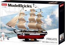 Sluban Model Bricks M38-B0836 Fregata USS Constitution plachetní válečná loď
