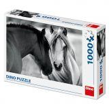 Dino Puzzle Černobílí koně