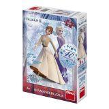 Dino Puzzle Frozen II diamanty 200 dílků