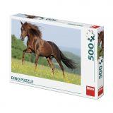 Dino Puzzle Kůň na louce 500 dílků