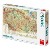 Dino Puzzle Mapa České republiky 1000 dílků