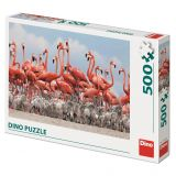Dino Puzzle Plameňáci 500 dílků