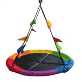 Dvěděti Houpačka Čapí hnízdo s vlajkami barevné