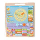 Bigjigs - Anglický magnetický kalendář s hodinami