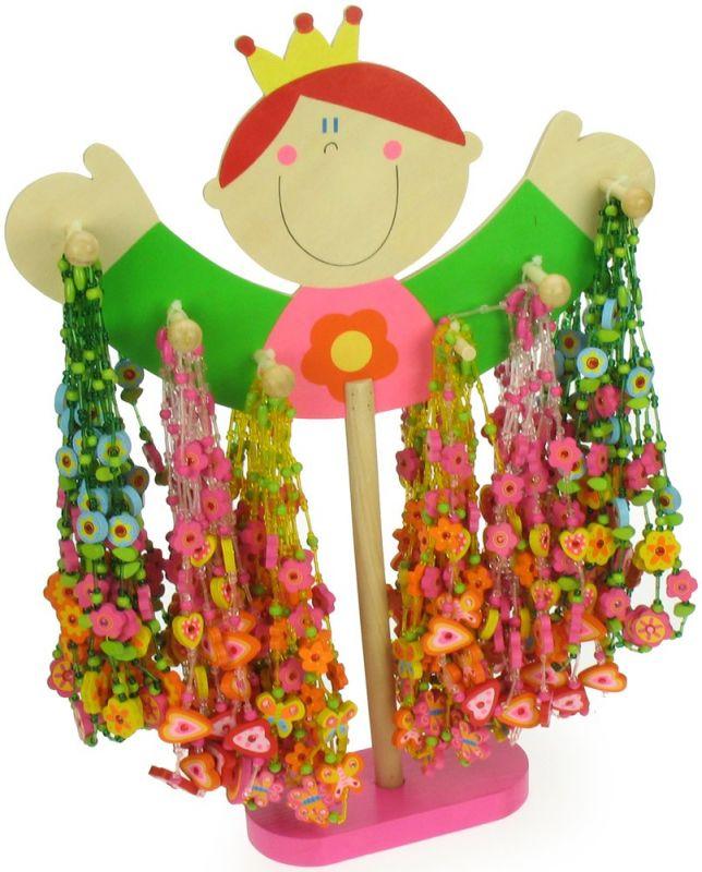 Dřevěné hračky Bigjigs Toys Dřevěné náhrdelníky 48ks