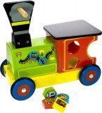 Bigjigs Toys Dřevěný motorický vozík Mašinka
