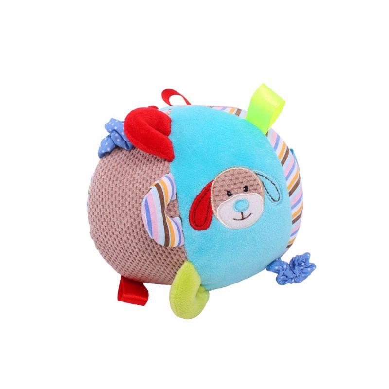 Dřevěné hračky Bigjigs Baby Textilní motorická koule pejsek Bruno Bigjigs Toys