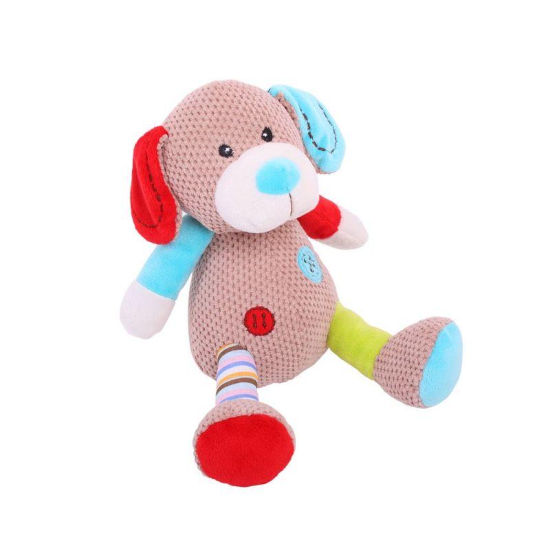 Dřevěné hračky Bigjigs Baby Textilní postavička pejsek Bruno 19cm Bigjigs Toys