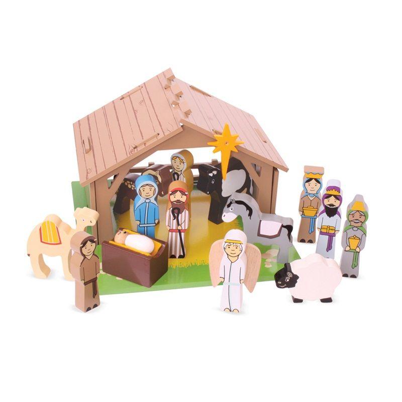 Dřevěné hračky Bigjigs Toys Betlém pro nejmenší