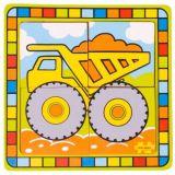 Bigjigs Toys dřevěné hračky -  Vkládací puzzle náklaďák