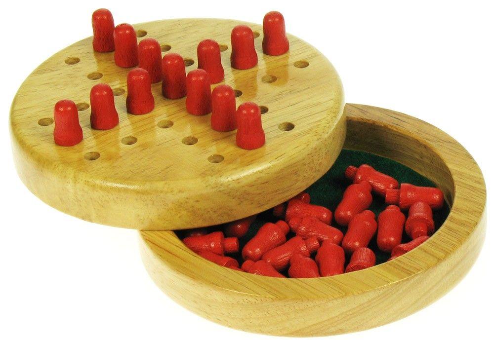 Dřevěné hračky Bigjigs Toys Dřevěný mini solitaire