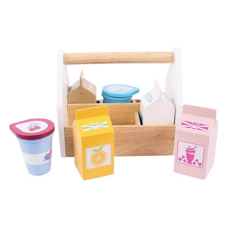 Dřevěné hračky Bigjigs Toys Koktejlové výrobky v přenosné krabičce