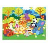 Bigjigs Toys dřevěné puzzle - Piknik zvířátek - 48 dílků