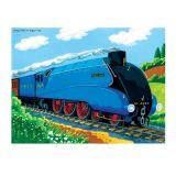 Bigjigs Toys Dřevěné puzzle vlak mallard 48 dílků