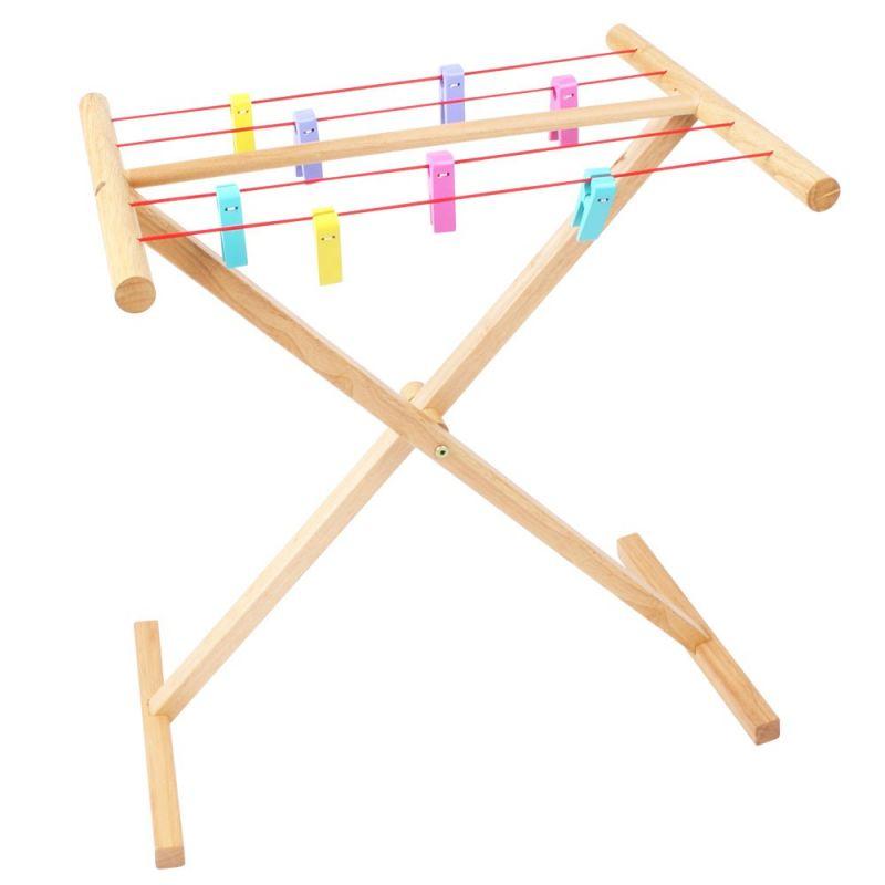 Dřevěné hračky Bigjigs Toys Dřevěný sušák na prádlo