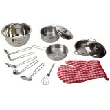 Bigjigs Toys kuchařský set kovového nádobí