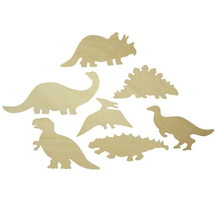 Dřevěné hračky Bigjigs Toys Obkreslovací obrázky dinosaurů