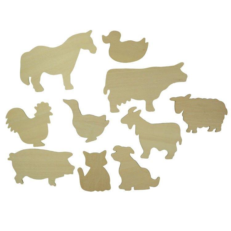 Dřevěné hračky Bigjigs Toys Obkreslovací obrázky domácích zvířat