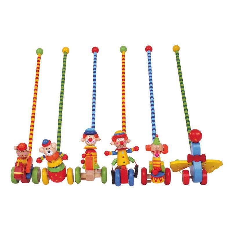 Dřevěné hračky Bigjigs Toys tahací hračky - Jezdík cirkus
