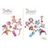 Dřevěné hračky Bigjigs Baby Textilní aktivní kostka opička Cheeky Bigjigs Toys