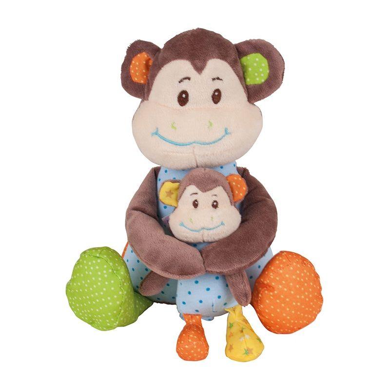 Dřevěné hračky Bigjigs Baby Textilní postavička opička Cheeky Bigjigs Toys