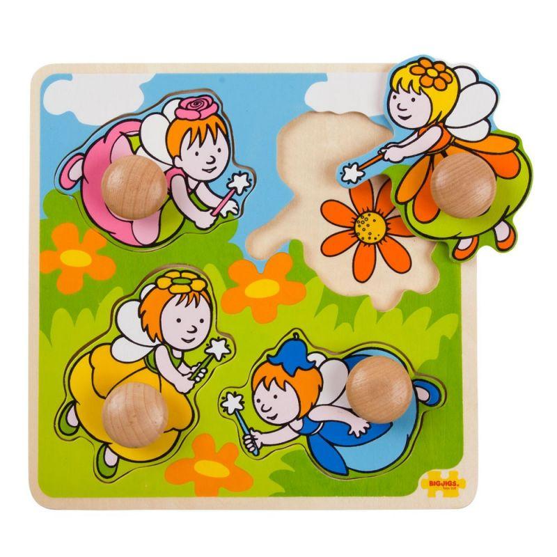 Dřevěné hračky Bigjigs Toys Vkládací puzzle víly