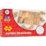 Dřevěné hračky Bigjigs Toys Velké dřevěné domino