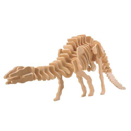 Dřevěné hračky Woodcraft Dřevěné 3D puzzle velký Apatosaurus Woodcraft construction kit