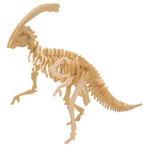 Dřevěné hračky Woodcraft Dřevěné 3D puzzle velký Parasaurolophus Woodcraft construction kit