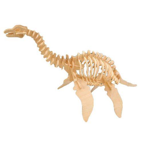 Dřevěné hračky Woodcraft Dřevěné 3D puzzle velký Plesiosaurus Woodcraft construction kit