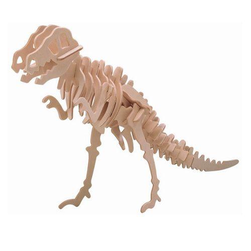 Dřevěné hračky Woodcraft Dřevěné 3D puzzle velký Tyranosaurus Woodcraft construction kit