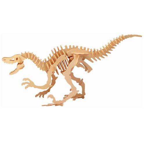 Dřevěné hračky Woodcraft Dřevěné 3D puzzle velký Velociraptor Woodcraft construction kit