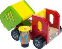 Dřevěné hračky - Barevné nákladní auto s řidičem