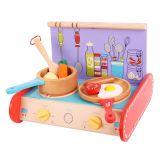 Dřevěné hračky Bigjigs - Sporák s vybavením