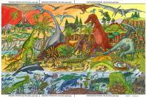 Dřevěné hračky - Puzzle dinosauři 48 dílků