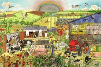 Dřevěné hračky - Puzzle farma 48 dílků