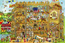 Dřevěné hračky - Puzzle hrad 48 dílků