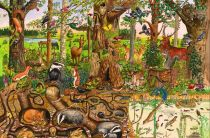 Dřevěné hračky - Puzzle lesní svět 24 dílků
