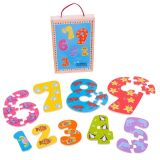 Dřevěné puzzle Bigjigs - Čísla 1-9