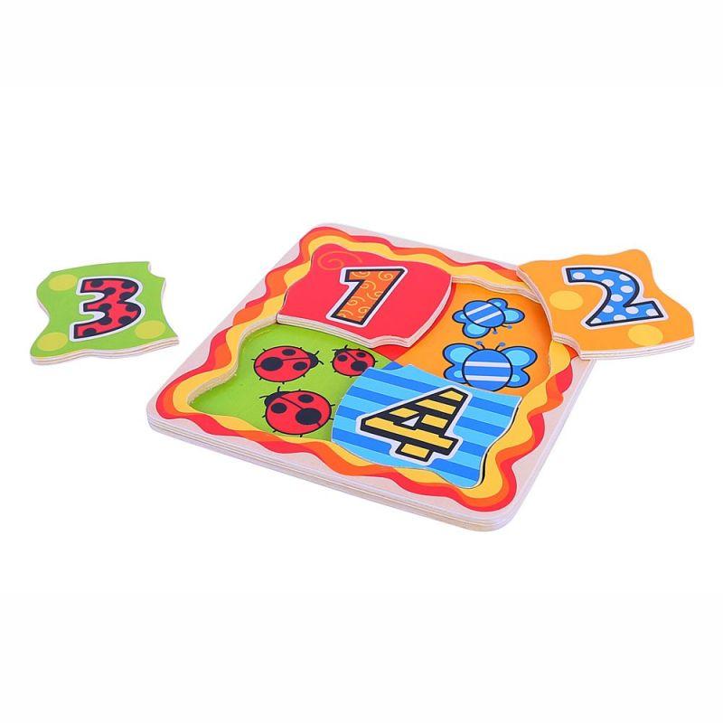 Dřevěné hračky Bigjigs Toys Moje první počítací puzzle