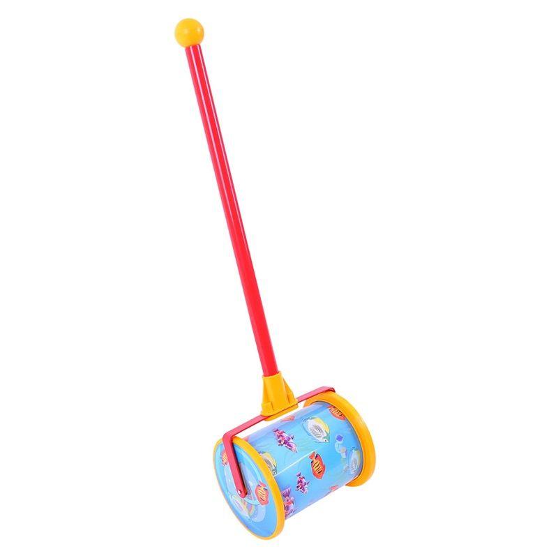 Dřevěné hračky Tahací hračky - jezdík - Hudební válec na tyči Bigjigs Toys