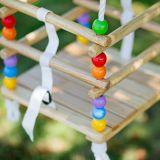Dřevěné hračky Bigjigs Toys Dřevěná korálková houpačka